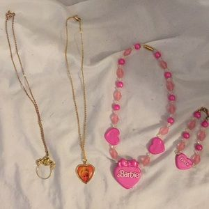 Avon Barbie necklace's and bracelet.